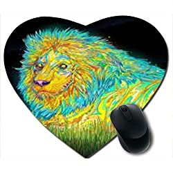 Awwsme Shines Lion Heart Mousepad