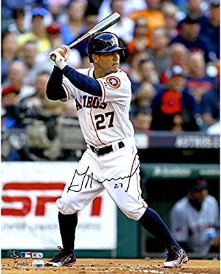 "Jose Altuve Houston Astros Autographed 16"" x 20"" White Hitting Photograph - Fanatics Authentic Certified"