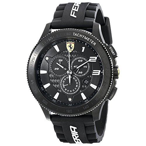 Ferrari Scuderia SF 116 XX 0830242 44mm Metal Case Black Silicone Mineral Men's Watch