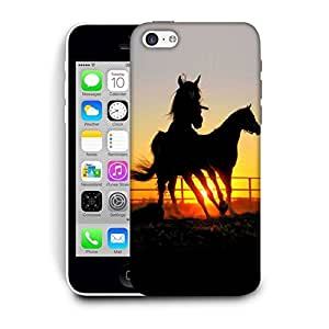 Snoogg Shade Of Horses Printed Protective Phone Back Case Cover For Apple Iphone 6 / 6S