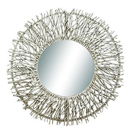 Benzara Wooden Branch Wall Mirror by Benzara