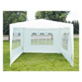 3M x 3M Garden Gazebo Outdoor Waterproof Marquee Party Tent Awning White