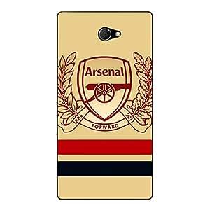 Jugaaduu Arsenal Back Cover Case For Sony Xperia M2 Dual
