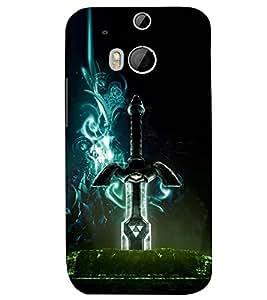 PRINTSWAG LIGHTINING SWORD Designer Back Cover Case for HTC ONE M8