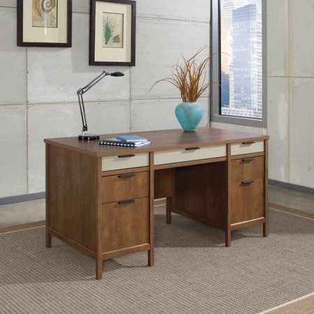 Desk / Studying Desk, Transitional Style Kersley Executive Desk, Hazelwood 414837, Assembly Required Executive Desk Assembly