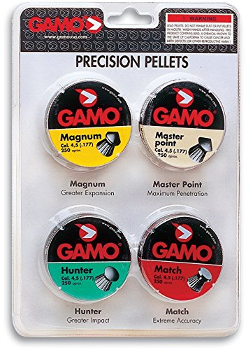Gamo Air Gun Pellets Combo Pack 1000 Assorted .177 Cal. (Gamo Air Rifle Targets compare prices)