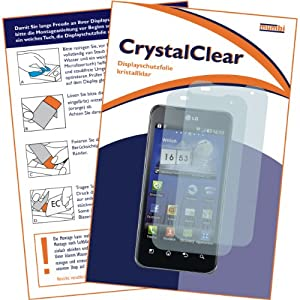 "2 x mumbi Displayschutzfolie Motorola Atrix 4G - Atrix 4 G G4 Displayschutz ""CrystalClear"" unsichtbar"