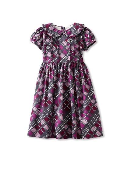 Rachel Riley Girl's Geometric Print Ruffle Dress