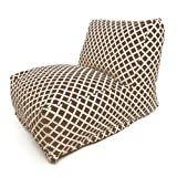 Majestic Home Goods Chocolate Bamboo Bean Bag Chair Lounger