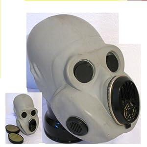 Gasmaske NVA PBF. Gorilla plus Gummi ABC Schutzhandschuhe und eine Gasmaskentasche