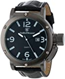 Smith & Wesson SWW-LW6081 EGO Series Watch with Leather Strap, Black