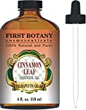 Cinnamon Essential Oil 4 Fl. Oz. With a Glass Dropper - 100% Pure & Natural Therapeutic Grade. Great As Natural Disinfectant, Odor Neutralizer, Insect Repellent & Massage Oil
