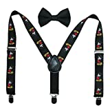 Disney Baby Boy's Mickey Mouse Bowtie & Suspender Set Accessory, Black Suspenders and Bowtie, Infant