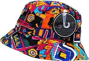 Black Aztec Print Bucket Hat Navajo Pattern Boonie Cap by KB Ethos