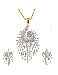 Sheetal Jewellery Silver & Golden Brass & Alloy Pendant Set For Women - B00TIH03NK