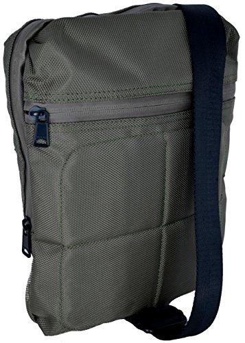 Borsello Tracolla Uomo Donna Napapijri Bag Work Flat Crossover Grey Olive N8D06