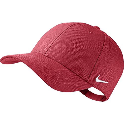 Nike Visor Team Club - Berretto con visiera, Rosso (University Red/Football White), Taglia unica