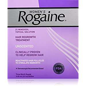 Rogaine for Women Hair Regrowth Treatment, 2 Ounce, 3 Count