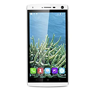 LANDVO V11 Débloqué Wake Smartphone Android 5.1 1.3GHz MT6580M Quad Core 4GO ROM Cellulaire Ultra-Fin (8.1mm de Ecran Tactile IPS qHD)-White