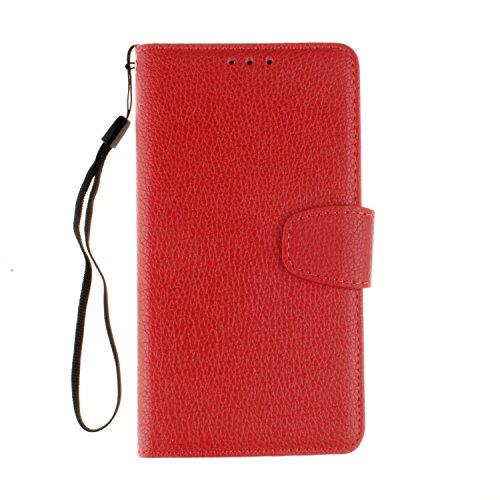 Cozy Hut LG G5 Bookstyle Étui rouge Housse en Cuir Case à rabat pour LG G5 Coque de protection Portefeuille TPU Case - rouge