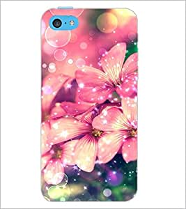 PrintDhaba Flowers D-2167 Back Case Cover for APPLE IPHONE 5C (Multi-Coloured)
