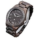 XLORDX-Holzuhr-Schwarz-Roman-Bambus-Datum-Armbanduhr-Herrenuhr-aus-Holz-Freund-Ehemann-Geschenk-Gift-Watch