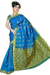 Pawan Tex kanjeevaram silk sree for women's (silk04_rama green)