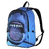 Hynes Eagle Printed Kids School Backpack (Shark)