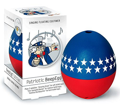 Brainstream Beep Egg Basic Singing and Floating Egg Timer, Patriotic