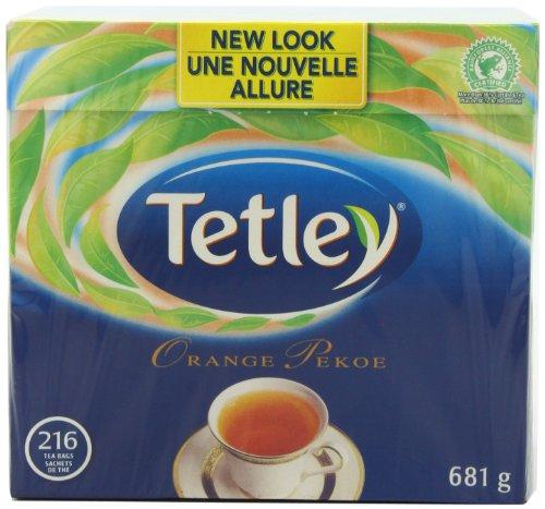 Tetley Tea, Orange Pekoe, 216-Count Tea Bags
