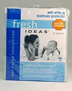 Levinsohn Fresh Ideas Allergy Relief Fitted Mattress Protectors, Twin