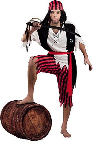 Costume deluxe pirata Jack. Taglia: M / L