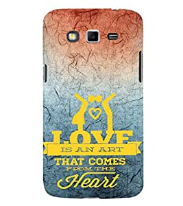 EPICCASE love is an art Mobile Back Case Cover For Samsung Galaxy Grand Neo Plus (Designer Case)
