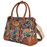 Disney Vintage Mickey Pattern Top Handle Satchel Bag With Mini Purse Pouch