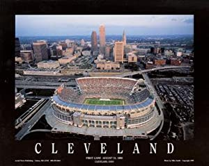 Cleveland Browns Browns Stadium Aerial Picture Nfl Unframed by Mike Smith