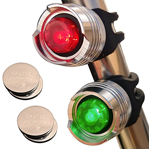 WEEKEND SALE - Green & Red Aluminum Portable Marine LED Boating Lights - Boat Bow or Stern Emergency Backup Safety Lights for Maximum Attention - Waterproof (Bow Running Lights compare prices)