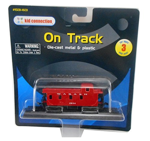 Die Cast Train Boxcar Wabash On Track From the Alaska Railroad - 1