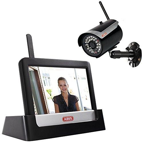 ABUS Heim Videoset Funk TVAC16000A inkl. IR Funk-Außenkamera TVAC16010A + Touchscreen