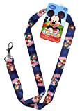 Disney Junior 17 Lanyard - Mickey Mouse Strap! Badge or Season Pass Holder! Display Collectible Disney Land Pins 2 Lobster Clasp