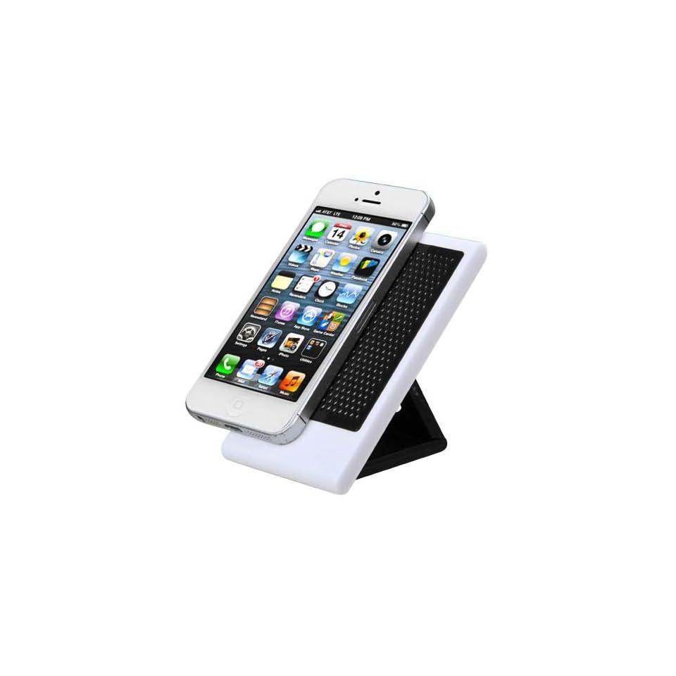 """Black Foldable Anti skid Smartphone Ipod Holder for Apple Iphone 4/4s Apple Iphone 5/5s/5c Blackberry Z10 Blu Studio 5.0 S D570a 5"""" BLU Studio 5.3 Ii 5.3"""" BLU Studio 5.0 D530 5"""" BLU Quattro 5.7 Hd D460 6"""" BLU Life Play L100a 5.4"""" B"""