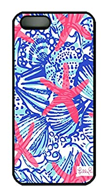 Starfish Summer Shells Pattern Design for Iphone 5S Case in PC Black Material(Q One) from MMTLD