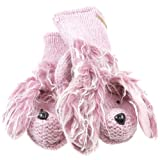 Old Glory - Unisex-child Precious The Poodle Kids Knit Mittens Pink