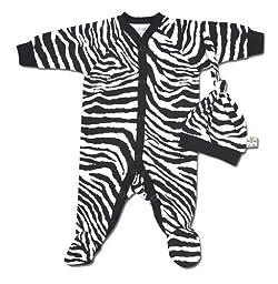 IBB Zebra Print Sleeper - (Preemie 3-6)