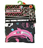 Monster High Girls All Over Print Thermal Underwear Set (Size 6)