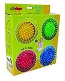 Edushape 4 Sensory Balls, Set of 4, Solid Color: Solid (Baby/Babe/Infant - Little ones)