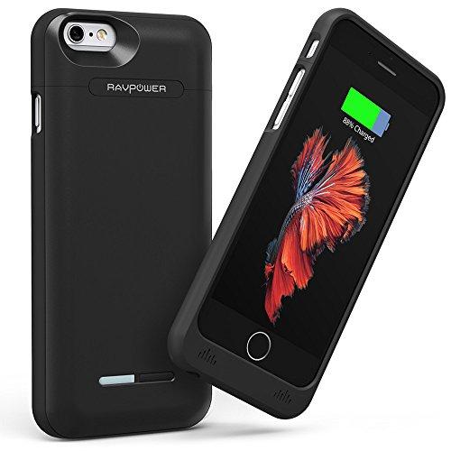 RAVPower iPhone 6 / 6s専用 3000mAh バッテリー内蔵ケース (モバイルバッテリー、バッテリーケース、2A入力、軽量、コンパクト、MFi Apple社認定商品、18ヶ月長期保証) RP-PB045
