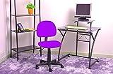 Coavas Fabric Mesh Office Computer Desk Chair,Purple Color