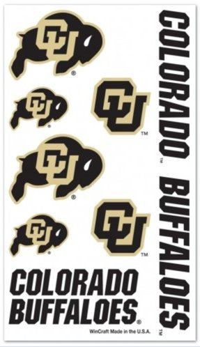 NCAA University of Colorado Buffaloes Temporary Tattoos