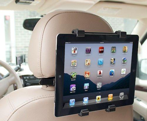 KFZ Auto Kopfstützen Halterung Multimedia Rücksitz holder für Point of View ProTab 2 IPS 9.7 9.7'' Zoll Inch Android Tablet PC (kopfstütze, Tablethalterung, Kopfstützen Halter)