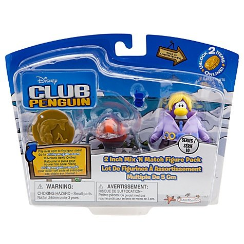 Buy Low Price Jakks Pacific Disney Club Penguin Series 10 Mix N Match Mini Figure Pack Dot with Spy Phone Headgear Includes Coin with Code! (B004NF8SM0)
